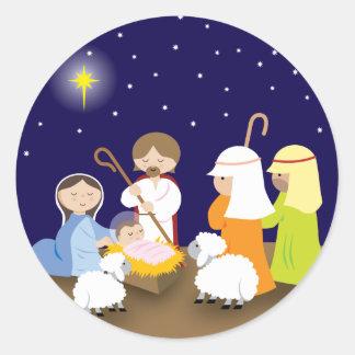 Pegatina Redonda Natividad del señor