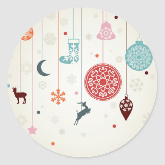 Pegatina Redonda Navidad