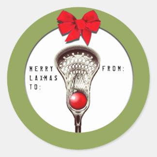 Pegatina Redonda Navidad de LaCrosse