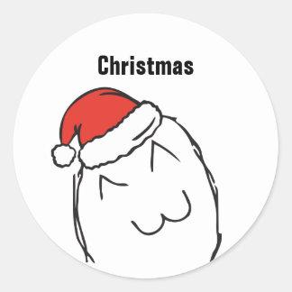 Pegatina Redonda Navidad EDITABLE INGENUO de Troll Le Me Memes