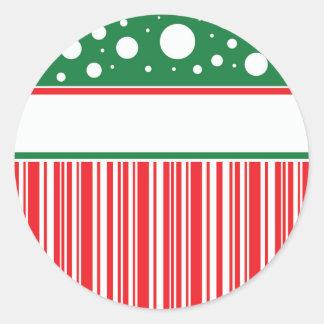 Pegatina Redonda Navidad raro