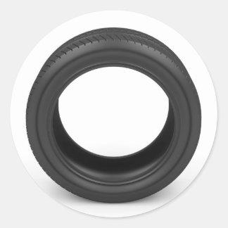Pegatina Redonda Neumático de automóvil