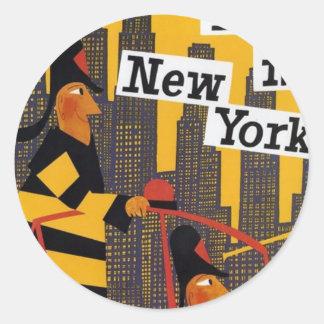 Pegatina Redonda New York