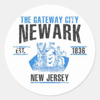 Pegatina Redonda Newark