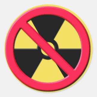 Pegatina Redonda Ningunas armas nucleares