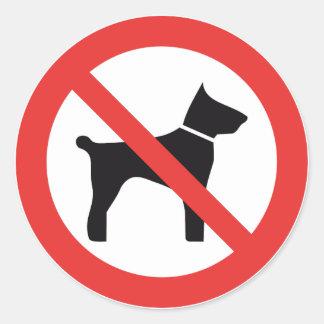 Pegatina Redonda Ningunos pegatinas de la muestra de los perros