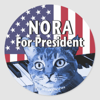Pegatina Redonda Nora para el presidente #4