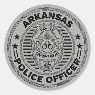 Pegatina Redonda Oficial de policía de Arkansas