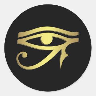 Pegatina Redonda Ojo del horus