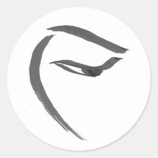 Pegatina Redonda Ojo lateral