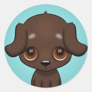 Pegatina Redonda Ojos del perrito