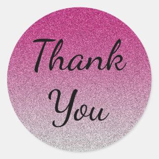 Pegatina Redonda Ombre rosado le agradece regalo del consultor de