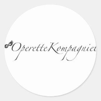Pegatina Redonda OperetteKompagniet Dinamarca