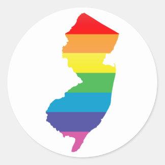 Pegatina Redonda orgullo de New Jersey