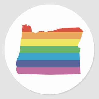 Pegatina Redonda orgullo de Oregon