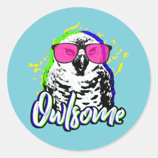 Pegatina Redonda Owlsome
