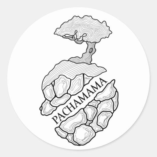Pegatina Redonda Pachamama