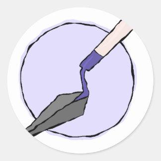 Pegatina Redonda Paleta púrpura - equipo de la herramienta del
