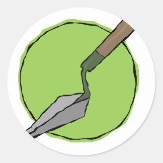 Pegatina Redonda Paleta verde - el juego de herramientas del