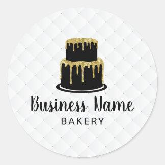 Pegatina Redonda Panadería dulce del boutique del logotipo de la