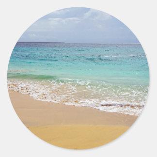 Pegatina Redonda paraíso tropical