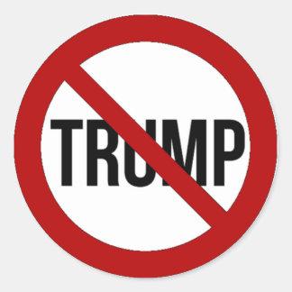 Pegatina Redonda Pare el Anti-Triunfo 2016 de Donald Trump