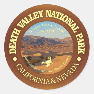 Pegatina Redonda Parque nacional de Death Valley