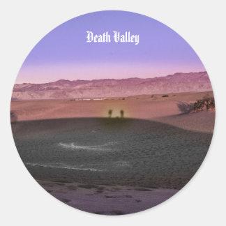 Pegatina Redonda Parque nacional de Death Valley de la salida del