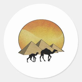 Pegatina Redonda Paso egipcio