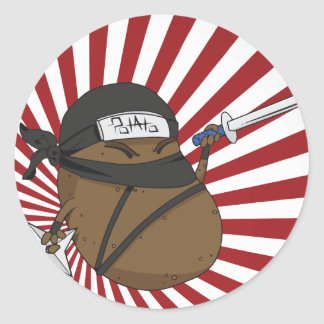 Pegatina Redonda Patata Ninja