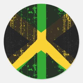 Pegatina Redonda Paz en Jamaica