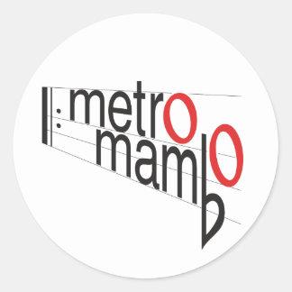 "Pegatina Redonda ""Pegatina del mambo del metro"""