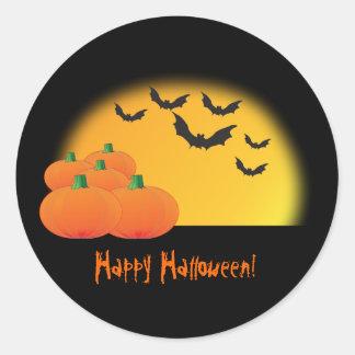 Pegatina Redonda ¡Pegatina del tema de Halloween - modifiqúelo para