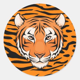 Pegatina Redonda ¡Pegatina del tigre (círculo) - van los tigres