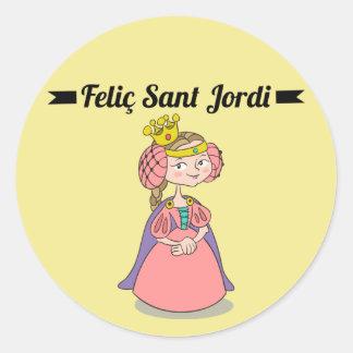 Pegatina Redonda Pegatina, Rodona Feliç Sant Jordi 3