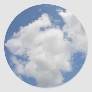 Pegatina Redonda Pegatinas caprichosos de la nube
