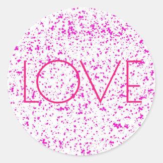 Pegatina Redonda Pegatinas dálmatas rosados de la impresión del