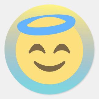 Pegatina Redonda Pegatinas de Emoji Ombre del ángel