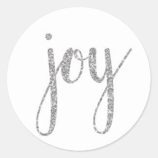 Pegatina Redonda Pegatinas de la alegría