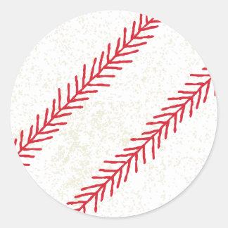Pegatina Redonda Pegatinas de la puntada del béisbol