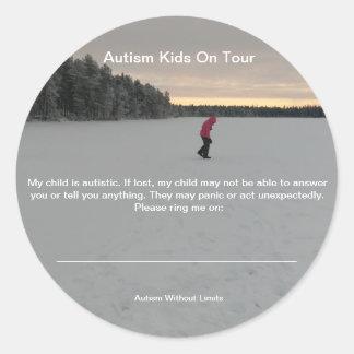 Pegatina Redonda Pegatinas de la seguridad del autismo
