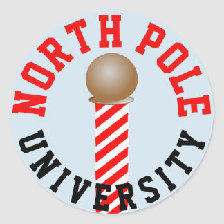 Pegatina Redonda Pegatinas de la universidad de Polo Norte