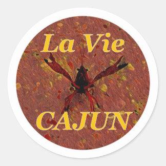 Pegatina Redonda Pegatinas de LVC, Brown