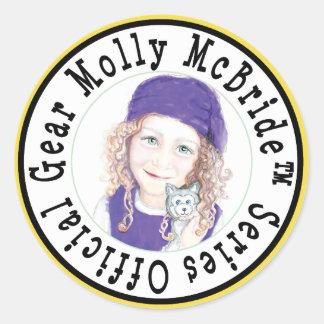 Pegatina Redonda ¡Pegatinas de Molly McBride!