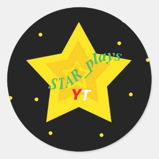 PEGATINA REDONDA PEGATINAS DE STAR_PLAYS