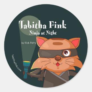 Pegatina Redonda Pegatinas de Tabitha Fink Ninja