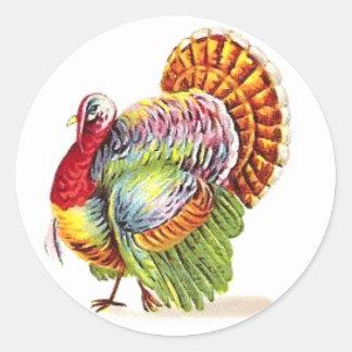 Pegatina Redonda Pegatinas de Turquía de la acción de gracias -