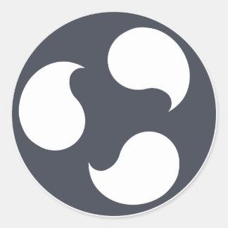 Pegatina Redonda Pegatinas de Ubuntu Budgie