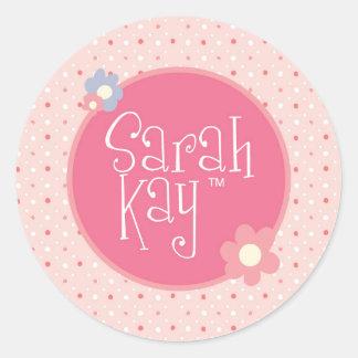 Pegatina Redonda Pegatinas decorativos del logotipo de Sarah Kay