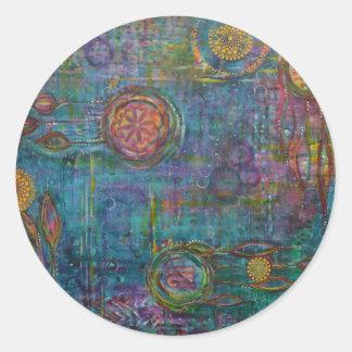 Pegatina Redonda Pegatinas del arte de Dreamscapade